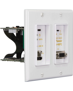 Just Add Power - 3G+ POE in wall 2 gang transmitter - White