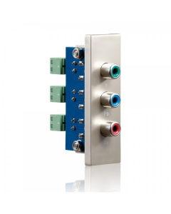 PureID Series - C-Video + Audio wallplate