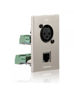 PureID Series - Audio XLR + RJ11 wallplate