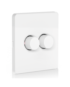 Aurora - AOne Smart Wireless Rotary Dimmer on 2 Gang Plate