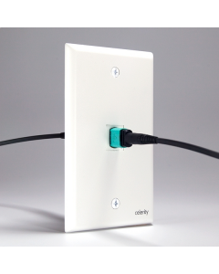 Celerity - 18Gbps HDMI Universal Fiber Keystone Wallplate