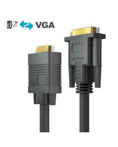 PureAffiliate - DVI-I/VGA Cable - black 5.00m