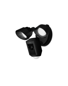 Ring - Flood Light Camera with Siren - Black