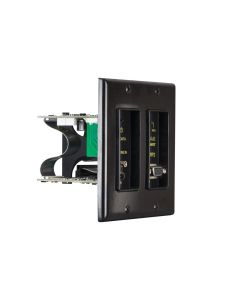 Just Add Power - 3G+ POE in wall 2 gang transmitter - Black