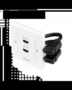 PureInstall - HDMI Wallplate 2-Port