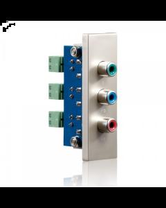 PureID Series - C-Video + Audio wallplate