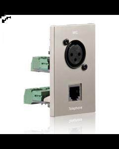 PureID Series - Audio XLR + RJ11 wallplate