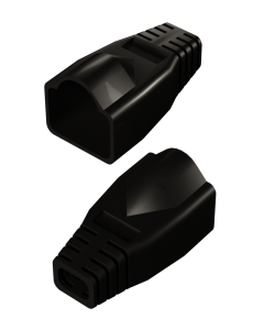 DTECH Rounded RJ45 Boot-Black (50 Pack)
