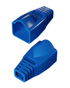 DTECH Rounded RJ45 Boot-Blue (50 Pack)