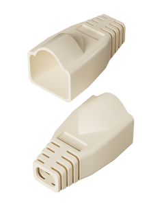 DTECH Rounded RJ45 Boot-Ivory (50 Pack)
