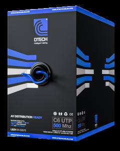 DTECH Cat 6 HDBaseT 500MHZ AV Ready LSZH – 305M BOX (Blue)