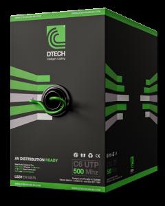 DTECH Cat 6 HDBaseT 500MHZ AV Ready LSZH – 305M BOX (Green)