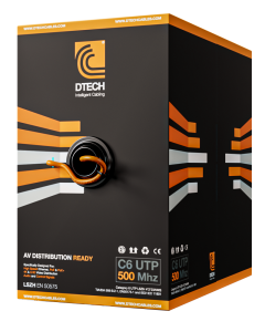 DTECH Cat 6 HDBaseT 500MHZ AV Ready LSZH – 305M BOX (Orange)