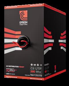 DTECH Cat 6 HDBaseT 500MHZ AV Ready LSZH – 305M BOX (Red)