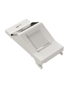 DTECH Euro Module Angled Shutter-White (4 Pack)