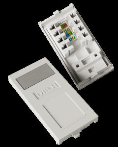 DTECH Cat 5e Slimline IDC Euro Module-White (2 Pack)