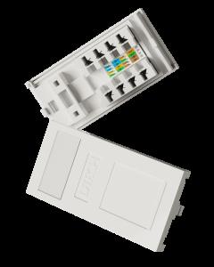DTECH Cat 6 Slimline IDC Euro Module-White (2 Pack)