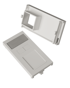 DTECH Euro Module Shutter-White (4 Pack)