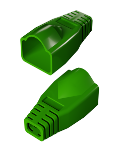 DTECH Rounded RJ45 Boot-Green (50 Pack)
