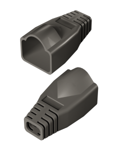 DTECH Rounded RJ45 Boot-Grey (50 Pack)