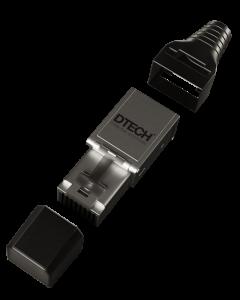DTECH XG Ultra Field-Term STP Plug 22/24AWG-Metal (4 Pack)