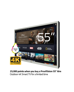 ProofVision 55inch Aire Plus Smart Outdoor TV