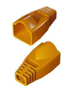 DTECH Rounded RJ45 Boot-Orange (50 Pack)