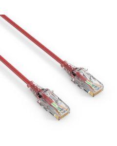 AVIT Media - CAT 6 Patch Cable. SLIM - red - 1.00m