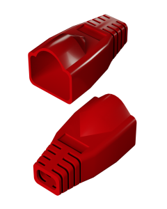 DTECH Rounded RJ45 Boot-Red (50 Pack)
