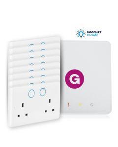 Aurora - AOne smart hub + 8 Zigbee Double Smart Socket