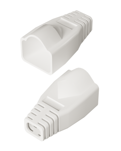 DTECH Rounded RJ45 Boot-White (50 Pack)