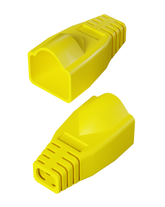 DTECH Rounded RJ45 Boot-Yellow (50 Pack)